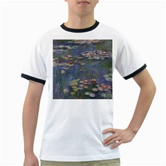 Claude Monet   Water Lilies Ringer T Shirts by ArtMuseum