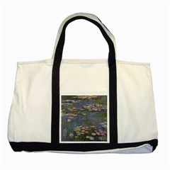 Claude Monet   Water Lilies Two Tone Tote Bag