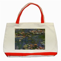 Claude Monet   Water Lilies Classic Tote Bag (red)  by ArtMuseum