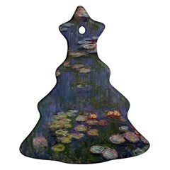 Claude Monet   Water Lilies Christmas Tree Ornament (2 Sides) by ArtMuseum