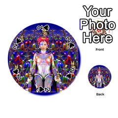 Robot Butterfly Playing Cards 54 (round)  by icarusismartdesigns