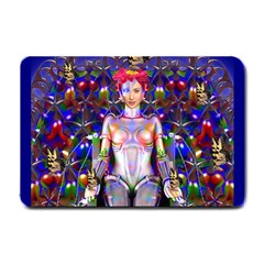 Robot Butterfly Small Doormat  by icarusismartdesigns