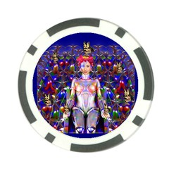 Robot Butterfly Poker Chip Card Guards by icarusismartdesigns