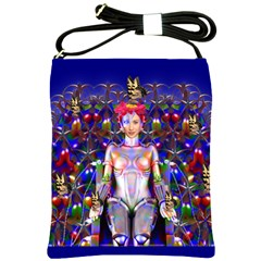 Robot Butterfly Shoulder Sling Bags by icarusismartdesigns