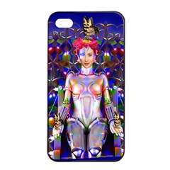 Robot Butterfly Apple Iphone 4/4s Seamless Case (black) by icarusismartdesigns