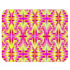 Pink And Yellow Rave Pattern Double Sided Flano Blanket (medium)