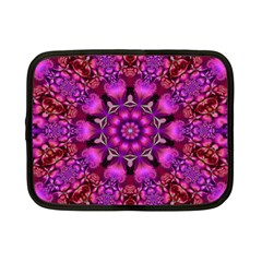 Pink Fractal Kaleidoscope  Netbook Case (small)  by KirstenStar