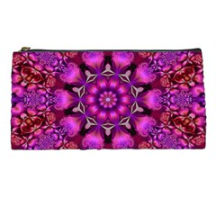 Pink Fractal Kaleidoscope  Pencil Cases by KirstenStar