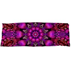 Pink Fractal Kaleidoscope  Body Pillow Cases Dakimakura (Two Sides)  by KirstenStar