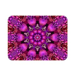 Pink Fractal Kaleidoscope  Double Sided Flano Blanket (mini)  by KirstenStar