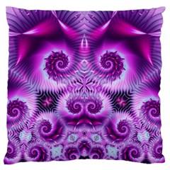 Purple Ecstasy Fractal artwork Standard Flano Cushion Cases (One Side)