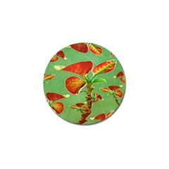 Tropical Floral Print Golf Ball Marker (10 Pack) by dflcprints