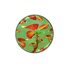 Tropical Floral Print Hat Clip Ball Marker (10 Pack) by dflcprints