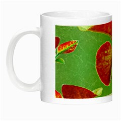 Tropical Floral Print Night Luminous Mugs by dflcprints