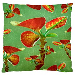 Tropical Floral Print Large Cushion Cases (one Side)  by dflcprints