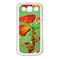 Tropical Floral Print Samsung Galaxy S3 Back Case (white) by dflcprints