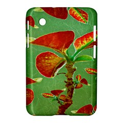 Tropical Floral Print Samsung Galaxy Tab 2 (7 ) P3100 Hardshell Case  by dflcprints