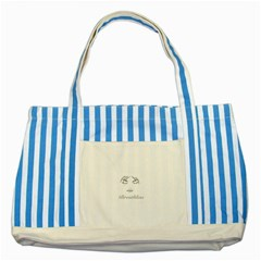 Breathless Striped Blue Tote Bag