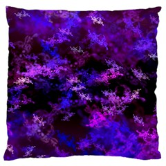 Purple Skulls Goth Storm Large Cushion Cases (one Side)  by KirstenStar