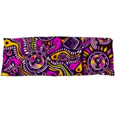 Purple Tribal Abstract Fish Body Pillow Cases (Dakimakura)  by KirstenStar