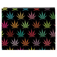 Cannabis Leaf Multi Col Pattern Cosmetic Bag (xxxl)  by ScienceGeek