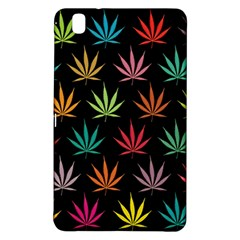 Cannabis Leaf Multi Col Pattern Samsung Galaxy Tab Pro 8 4 Hardshell Case by ScienceGeek