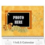 2016 Tangerine Breeze Calendar 1 - Wall Calendar 11  x 8.5  (12-Months)