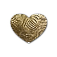 Brushed Gold 050549 Heart Coaster (4 Pack)  by AlteredStates