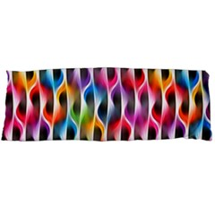 Rainbow Psychedelic Waves  Body Pillow Cases Dakimakura (Two Sides)  by KirstenStar