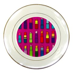 Lipsticks Pattern Porcelain Plates by theimagezone