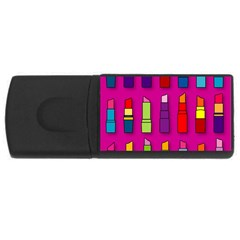 Lipsticks Pattern Usb Flash Drive Rectangular (4 Gb)  by theimagezone