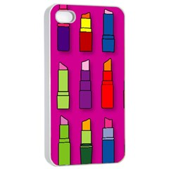 Lipsticks Pattern Apple Iphone 4/4s Seamless Case (white) by theimagezone