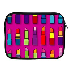 Lipsticks Pattern Apple iPad 2/3/4 Zipper Cases by theimagezone