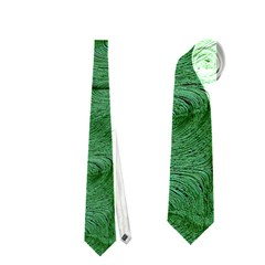 Woven Skin Green Neckties (two Side)  by InsanityExpressed