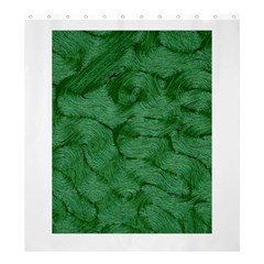 Woven Skin Green Shower Curtain 66  X 72  (large)