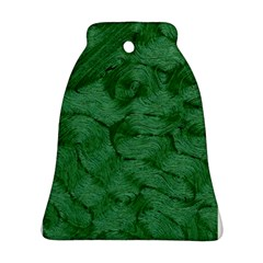 Woven Skin Green Bell Ornament (2 Sides)