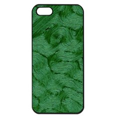 Woven Skin Green Apple Iphone 5 Seamless Case (black) by InsanityExpressed