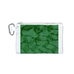 Woven Skin Green Canvas Cosmetic Bag (S) by InsanityExpressed