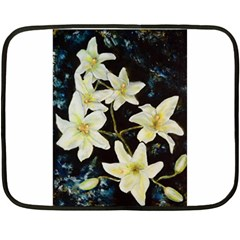 Bright Lilies Double Sided Fleece Blanket (mini)  by timelessartoncanvas