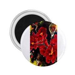Red Orchids 2 25  Magnets by timelessartoncanvas