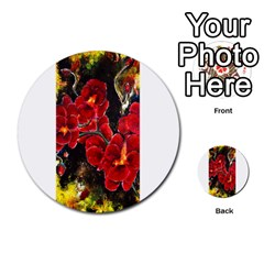 Red Orchids Multi Purpose Cards (round)  by timelessartoncanvas