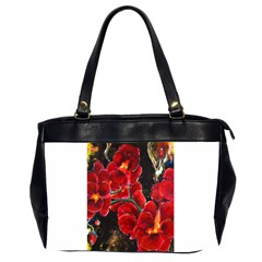 Red Orchids Office Handbags (2 Sides)  by timelessartoncanvas