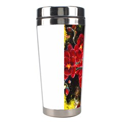 Red Orchids Stainless Steel Travel Tumblers by timelessartoncanvas