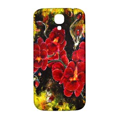 Red Orchids Samsung Galaxy S4 I9500/i9505  Hardshell Back Case by timelessartoncanvas