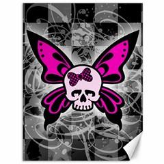 Skull Butterfly Canvas 36  x 48   by ArtistRoseanneJones