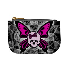 Skull Butterfly Mini Coin Purses by ArtistRoseanneJones