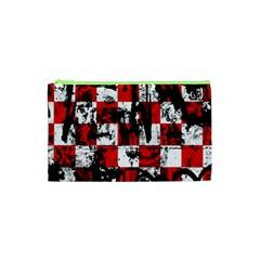 Emo Checker Graffiti Cosmetic Bag (xs) by ArtistRoseanneJones
