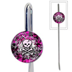 Pink Skull Splatter Book Mark by ArtistRoseanneJones