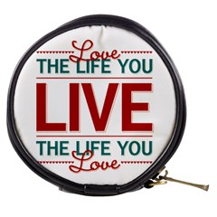 Love The Life You Live Mini Makeup Bags by theimagezone