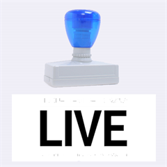 Love The Life You Live Rubber Stamps (large) by theimagezone